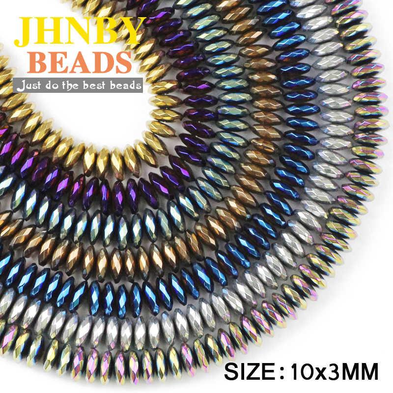 JHNBY פיאות שטוח עגול המטיט 10mm 30pcs טבעי אבן עפרות מצופה צבע Loose חרוזים תכשיטי צמידי קבלת DIY אבזרים
