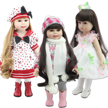 "2016 NEW 25 Models 18"" Blonde/Brown Hair 45cm Girl Doll Realistic Baby Toys Birthday Gift for Girls As American Girl Dolls"