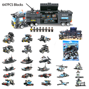Image 2 - 8 in 1 SWAT City Police Station Toys Weapon Gun Block Assembled Building Block Toys For Children Compatible with Classic Gift