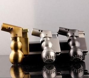 Image 3 - NEW Mini Spray Gun Compact Butane Jet Lighter Torch Turbo Lighter Fire Windproof Metal JET Lighter 1300 C NO GAS