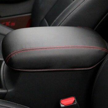 Pu Leather Car Armrest Cover Case Vehicle Center Console Arm Rest Seat Box Pad For Kia Sportage 4 QL 2016-2018 2019 Accessories leather car armrest for kia picanto centre console storage box
