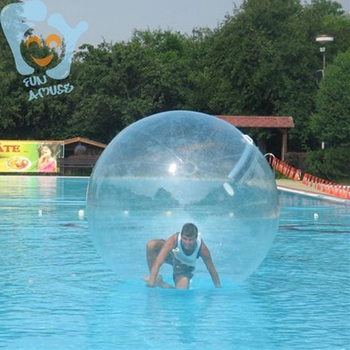2m Inflatable Water Walking Ball Walk on Water Zorb Clear Bubble Ball 0.70mm TPU Germany Zipper with Electric Pump wb002 benao 3m inflatable zorb wall colourful inflatable water roller glow lights in dark water rolling ball for water games