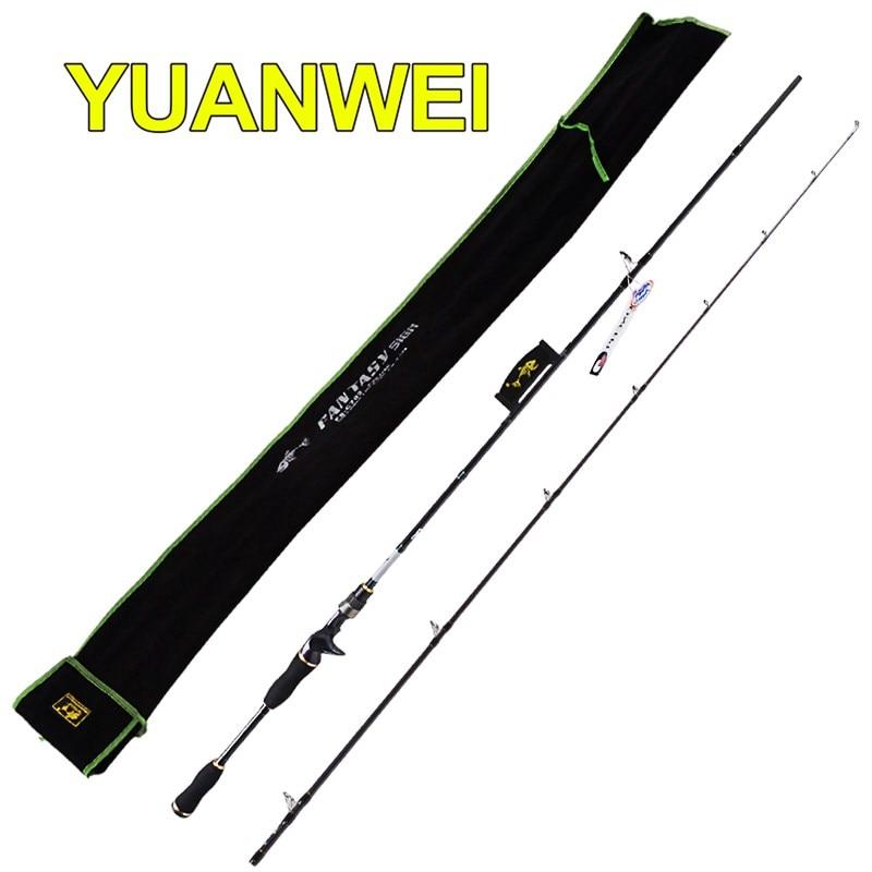yuanwei 2 1 m vara de pesca de fundicao de carbono 99 ml m mh im8