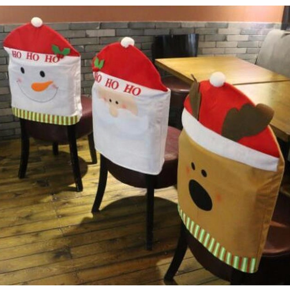 Christmas Decoration Supplies For Dining Table Christmas Chair Cover Hat  Adornos Navidad 2016 Natal Enfeites De