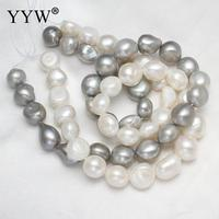 Free Shipping Natural Freshwater White Grey Color Pearl For DIY Necklace Bracelet Jewelry Making To Mysterious