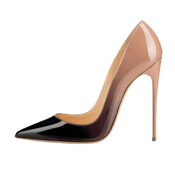 Image 5 - Women High Heels Shoes Patent Leather 12 cm Pointed Toe Stiletto 