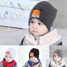 4 colors Fashion Baby Children Cap Fox Warm Winter Hats Knitted Wool Hemming adorable newborn photograph pros August 13(China)