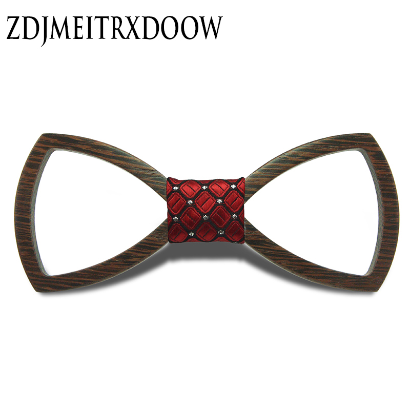 2016 European Fashion Hollow Out Personality Accessory Geometric Design Cheap Good Wood Hip Hop Bow Tie For Men Wooden Bow Tie