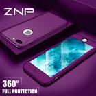 ZNP Fashion 360 Degree Shockproof Case For iPhone 7 6 6s Plus 8 With Glass Full Cover Cases For iphone 6 7 8 Plus 6s Phone Case