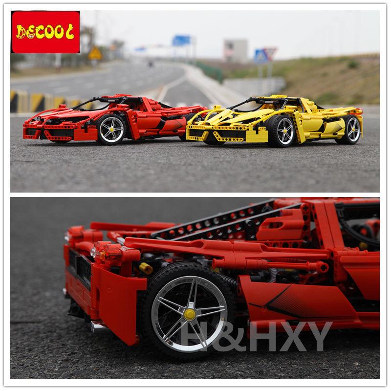 DHL en STOCK DECOOL 3382A 3382B 1367 pièces technique formule vitesse Champions racer voiture modèle blocs de construction ville avion MOC F1 Enzoed