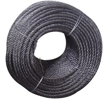 9.3MM 6X19+FC ungalvanized steel wire rope oil steel wire rope crane ...