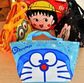 14Styles 2014 cartoon lunch bag women's handbag fabric lunch box bag waterproof picnic bag box