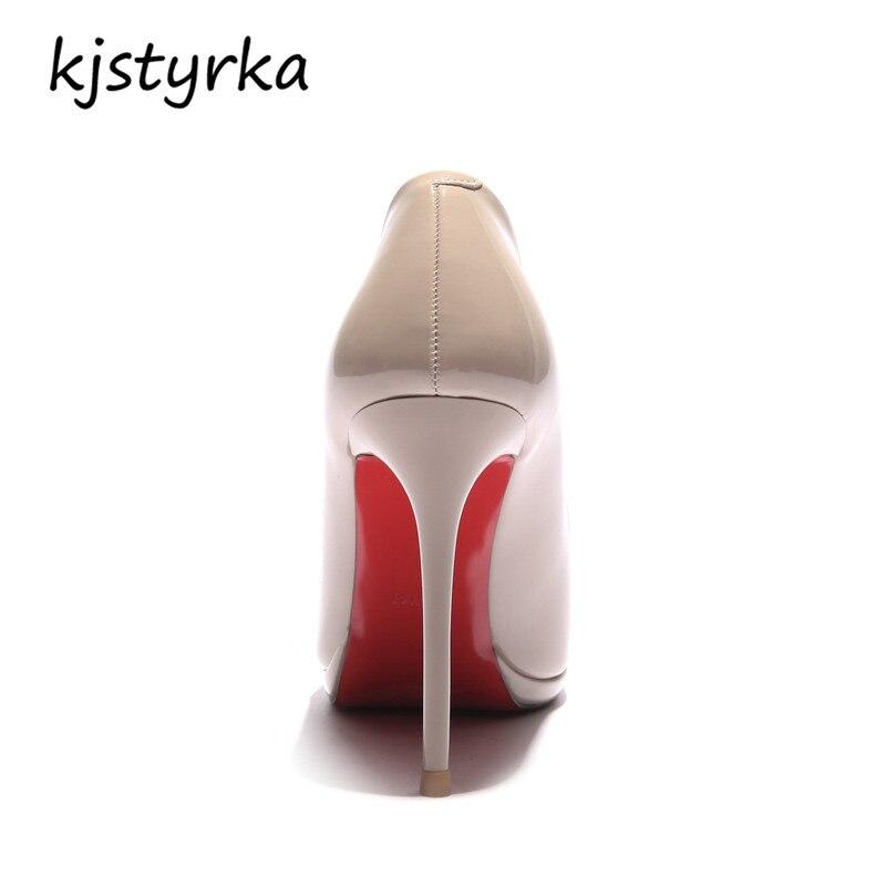 thin high heels 10cm Elegant ladies black apricot shoes 4