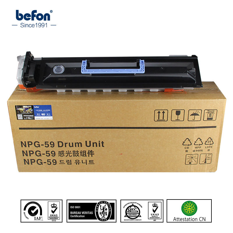 befon compatibility Canon NPG59 OPC  drum Unit IR-002L 2002G 2202L 2202N 2202DN for Canon NPG 59 toner cartridges opc rd ffcirc3100fu original fuser film unit for canon image runner ir c3100 3100 2570 npg23 gpr13 npg 23 gpr 13 npg 23 gpr 13