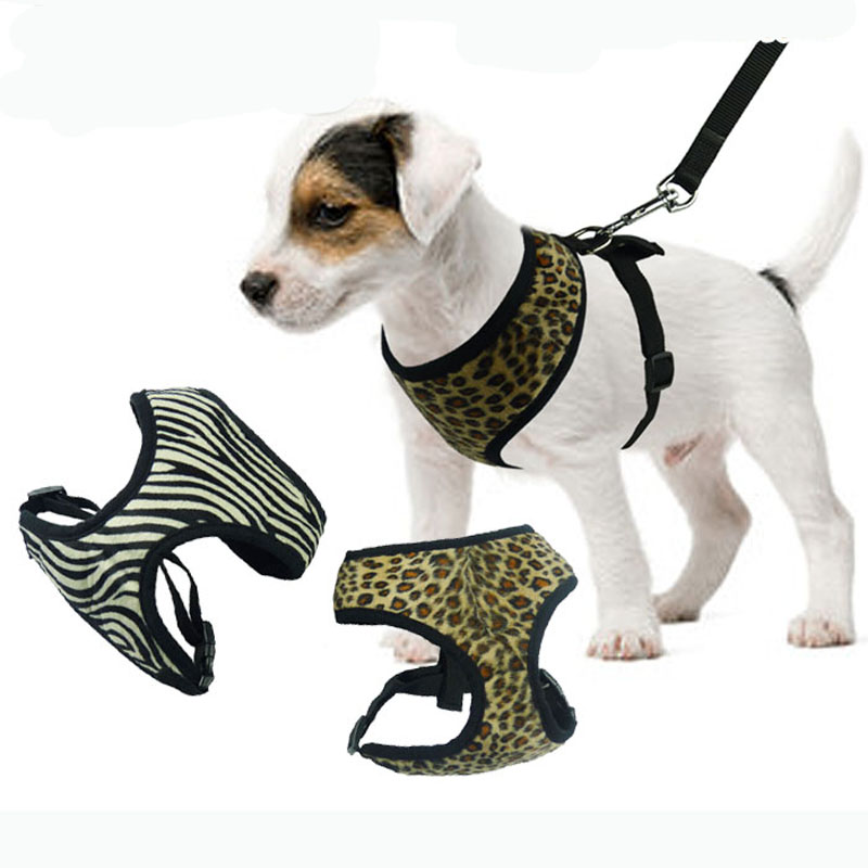 cool-leopard-and-zebra-adjustable-soft-breathable-dog-cat-control-dog-harness-nylon-harness-for-pet-puppy-collar-chest-strap