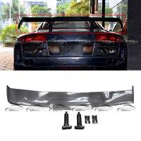 R8 GT Wings Spoiler Real Carbon Fiber Rear Trunk Lip Tail Splitter for Audi R8 ppi Razor Car Styling Car Body Kits