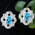 Women's .925 Sterling Silver Studs with Piercing Earrings Wedding Party Wear  E082