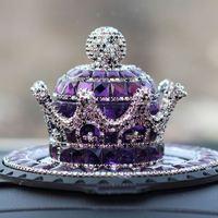 Creative Luxury Crystal Car Perfume Bottle Air Fresh Perfume Seat Crown Car Decorations Ornaments