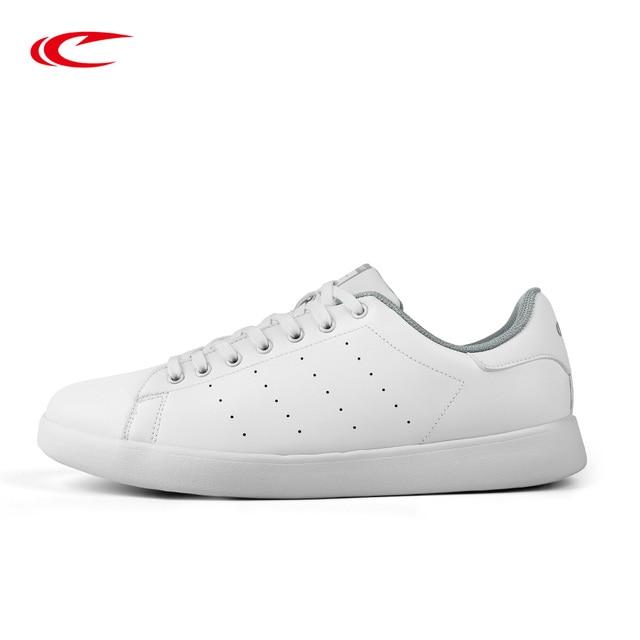 SAIQI New Leather Shoes Men s Women Unisex Sneakers Classic Skateboarding  Shoes White Black Grey Color Skateboarding Shoe 358005 fbad818d3e
