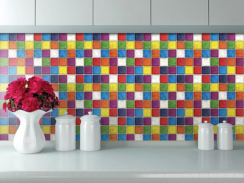Hermoso vinilos azulejos cocina fotos 10 x 10 pared de for Vinilos pared azulejos