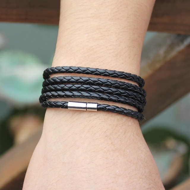 Men's Casual Leather Bracelet