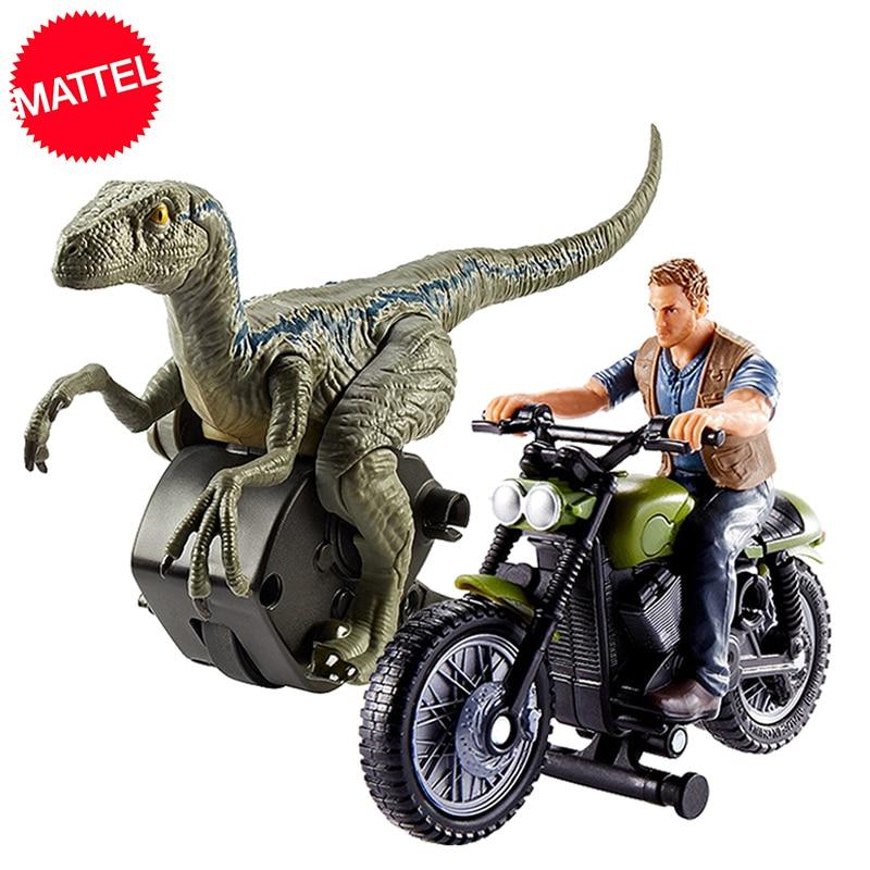 Original Mattel Jurassic Welt 2 Angriff Pack Velociraptor Drachen Owen Action Figure Heißer Verkauf Modell Puppen Spielzeug Für Kinder