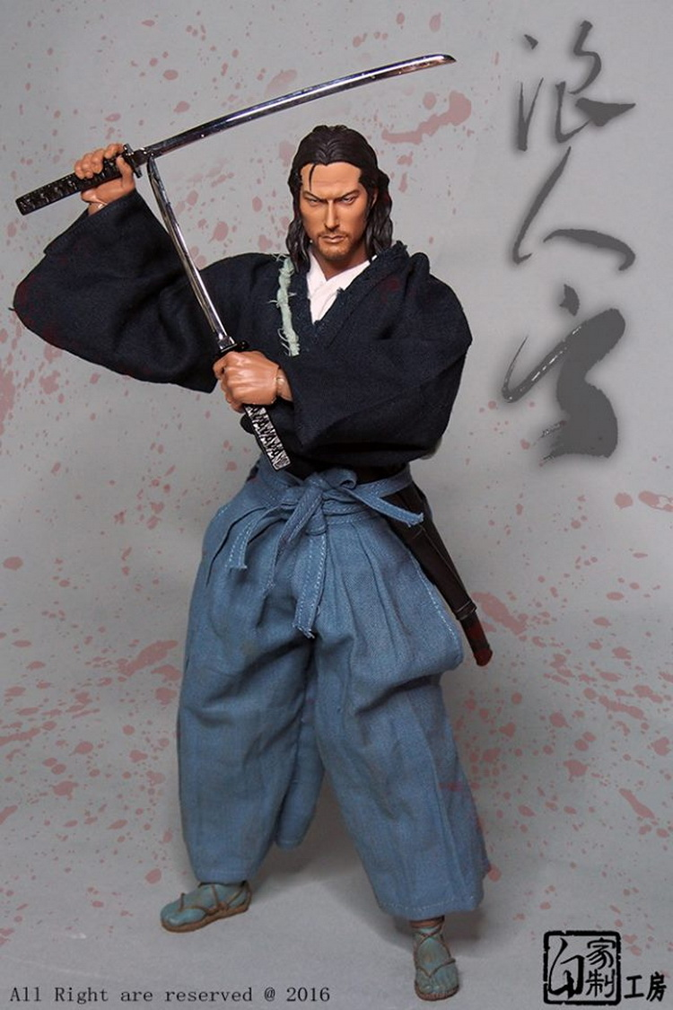 1:6 scale Super flexible figure 12 action figure doll Collectible Model plastic toys Japanese vagabond samurai YUN