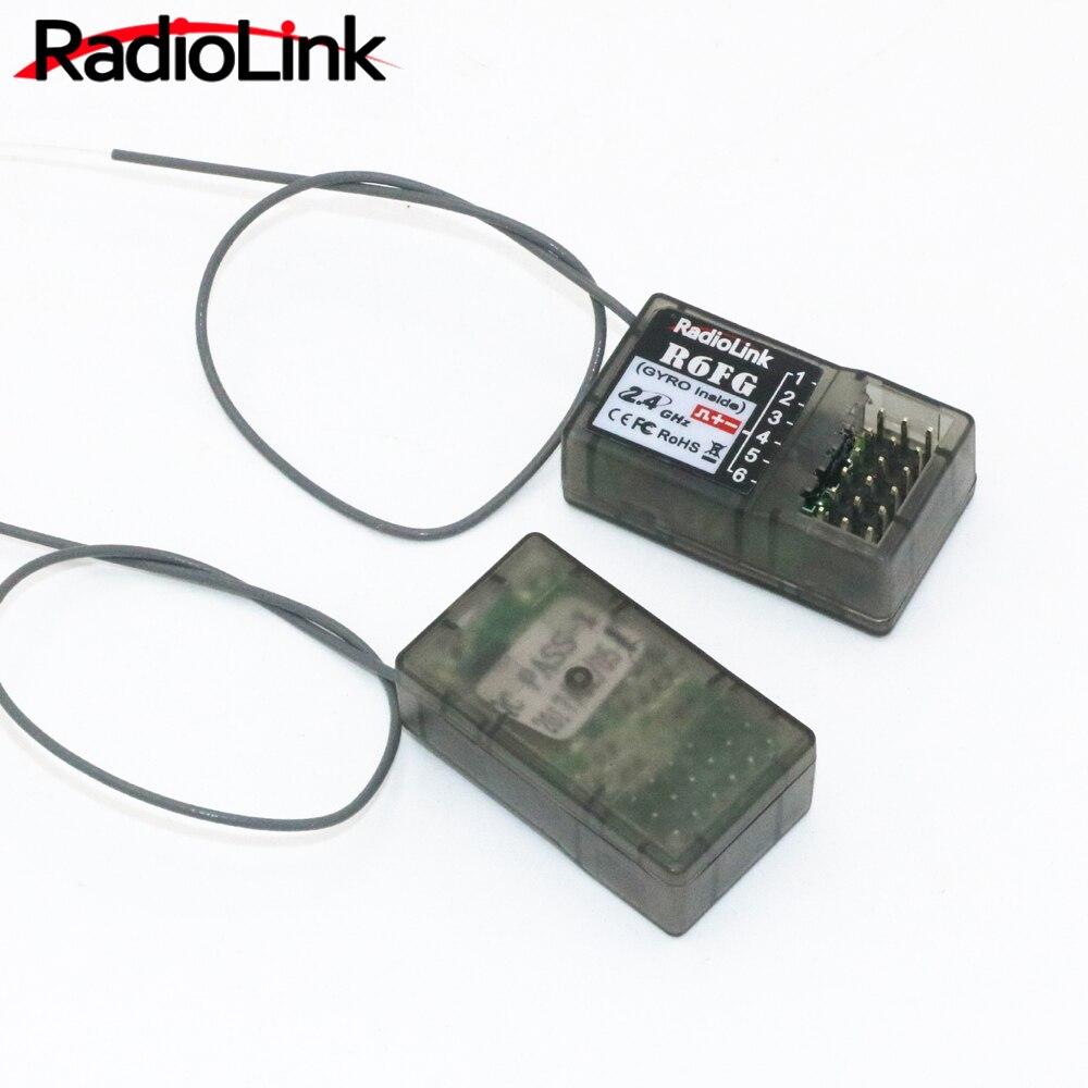 RadioLink R6FG 2.4GHz 6CH Receiver High Voltage RC Gyro Version For Radiolinks RC6GS RC Controller Transmitter