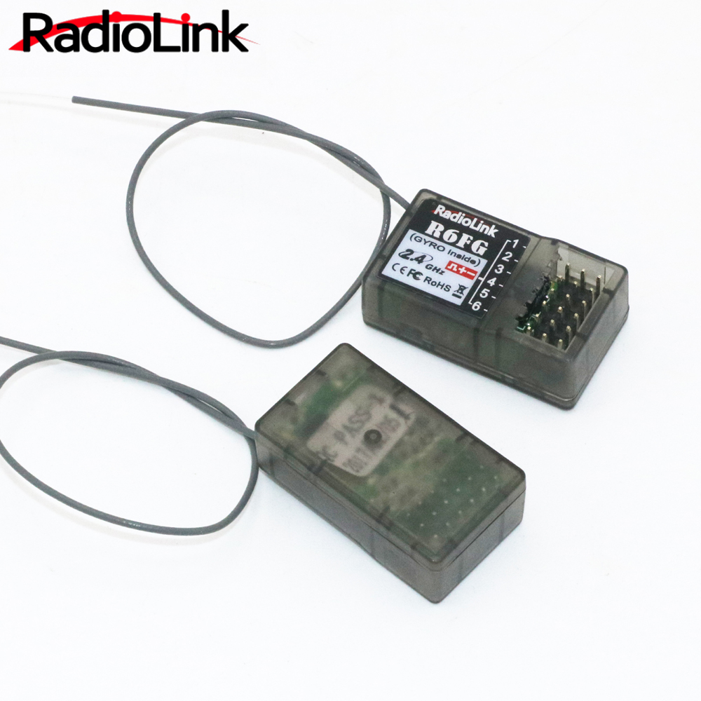 RadioLink R6FG 2.4GHz 6CH Receiver High Voltage RC Gyro Version For Radiolinks RC6GS RC Controller Transmitter