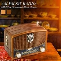 Портативный ретро радио AM FM SW динамик Поддержка Bluetooth TF карта слот перезаряжаемый бас динамик s аудио плеер