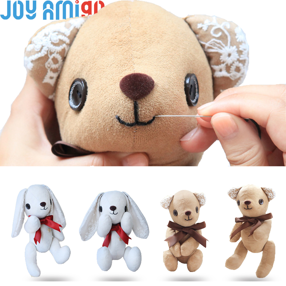 Make your own soft teddy bear bunny sewing kit diy plush for Make your own teddy bear template