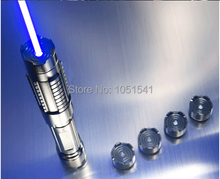Buy 450nm 447nm 500000mw 5in1 Strong power military blue laser pointer burn match candle lit cigarette wicked lazer torch 500Watt