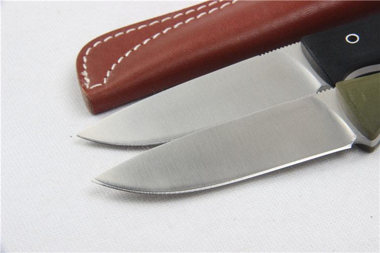 Aukštos kokybės 58-60HRC D2 ašmenis G10 rankena fiksuotas peilis - Rankiniai įrankiai - Nuotrauka 4