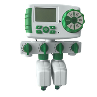 Garden Automatic 4 Zone Irrigation Watering Timer System Garden Water Timer Including 2 Solenoid Valve