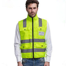 Фотография Free shipping top grade reflective safety vest & wholesale high visibility cycling waistcoat chaleco reflectante T058