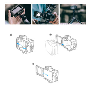 Image 2 - PGYTECH OSMO ACTION Camera Cage Protective Case for DJI Osmo Action Sport Camera Frame Cover Shell Housing Accessories