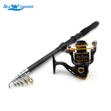 Promotion! High Quality Spinning Rod Fishing Reel And Set Telescopic 12BB Free shipping