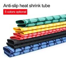 цены All sizes Non-slip heat shrink tube for fishing rod electrical insulation DIY 5 colors 1M Waterproof Racket Handle Grip