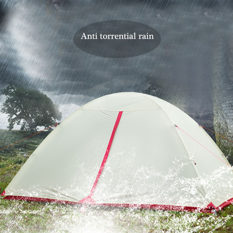 Waterproof Camping Tent For Heavy Rain15D Silicon Plaster Cloth No-see-um Mesh Beach Tent Permeability Camping Tents Equipment 2