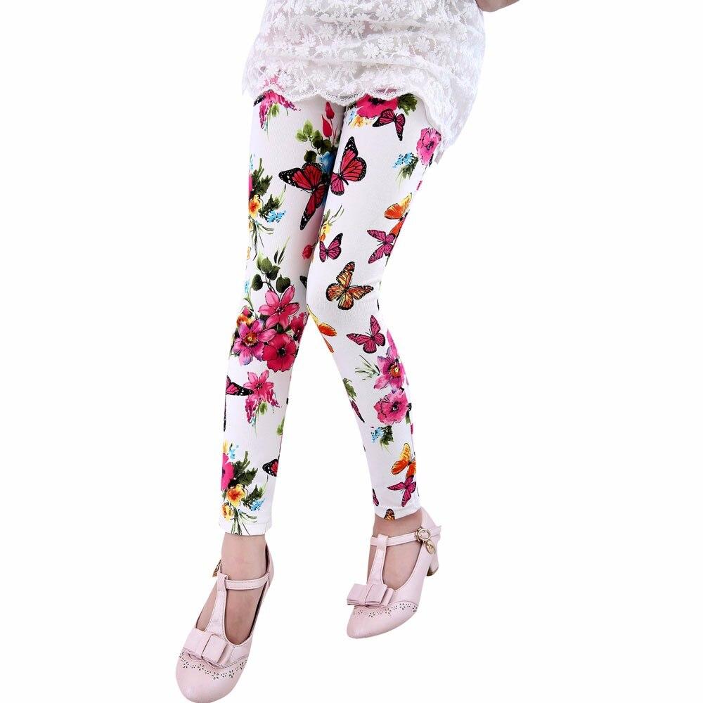 Treu Telotuny Blume Mädchen Leggings 2-8 T Sommer Kinder Hosen Kinder Hosen Legging Z0828 Socken, Strumpfhosen & Leggings