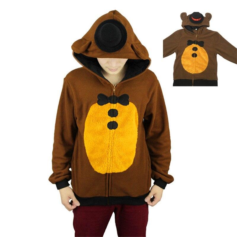 Игра Пять Ночь На Фредди балахон Семейные комплекты Толстовка Косплэй костюм унисекс для влюбленных Одежда теплая на осень-зиму Куртки