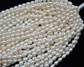 Comercio al por mayor 10 strands 5-6mm de agua dulce perla cuerdas sueltas