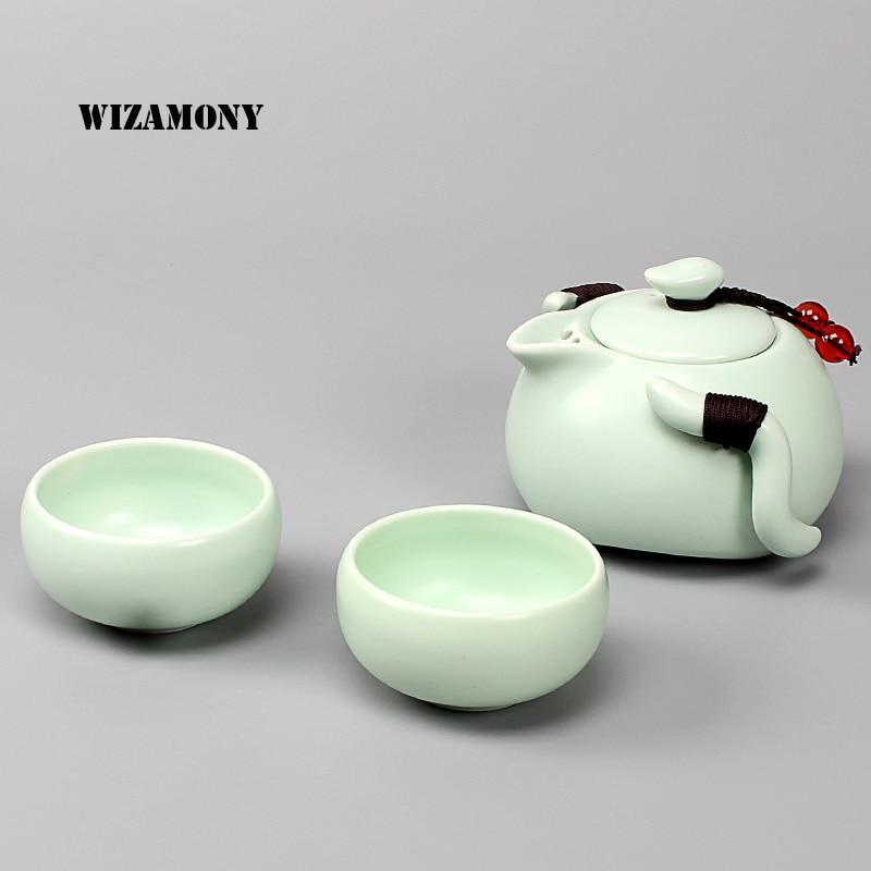 Tea Set Chinese Travel Ceramic Portable Teacup Towel Purple Sand Teapot Tea Tray Kung Fu Tea Set Mug of Tea Ceremony Teapot