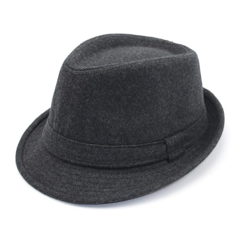 [AETRENDS] 2017 İngiltere Stil Fedora Caz Şapka Erkekler Vintage - Elbise aksesuarları - Fotoğraf 4