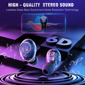 Image 3 - TWS Bluetooth V5.0 이어폰 무선 헤드폰 소음 차단 IPX6 방수 6D 스테레오 스포츠 헤드셋 이어 버드 4000mAh 전원