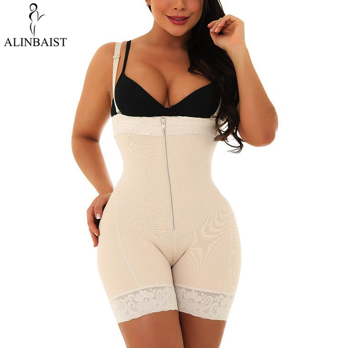Womens Seamless Shapewear Tummy Control Thigh Slimmer High Waist Butt Lifter Body Shaper Waist Slimming Shaper Postpartum Girdle