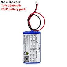 VariCore 7,2 V/7,4 V/8,4 V de litio 18650 batería 2600 mA akku megaphon lautsprecher schutz bord 2.6A Paquete de batería