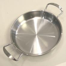 Сковорода жаровни и сковороды гриль из нержавеющей стали без покрытия.(диаметр: 24 см