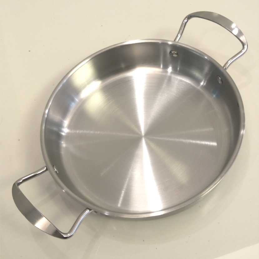 Non-coating Stainless Steel Fry Pan Griddles & Grill Pans. (diame: 24 cm)