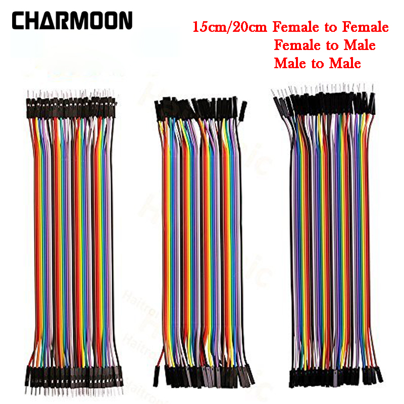 Dupont Line 120pcs 15cm/20cm Breadboards Jumper Wires Male To Male / Female To Male Or Female To Female Jumper Wire Dupont Cable